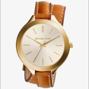 Michael Kors Slim Runway Double Wrap Wristwatch
